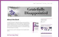 Gratefully Disappointed Author Web Design