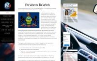 PA Work License Website Design