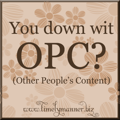 Content Curation or OPC