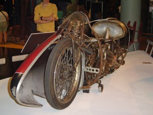 Replica of The 1920 Indian motorcycle used by Burt Munro to break the land speed record